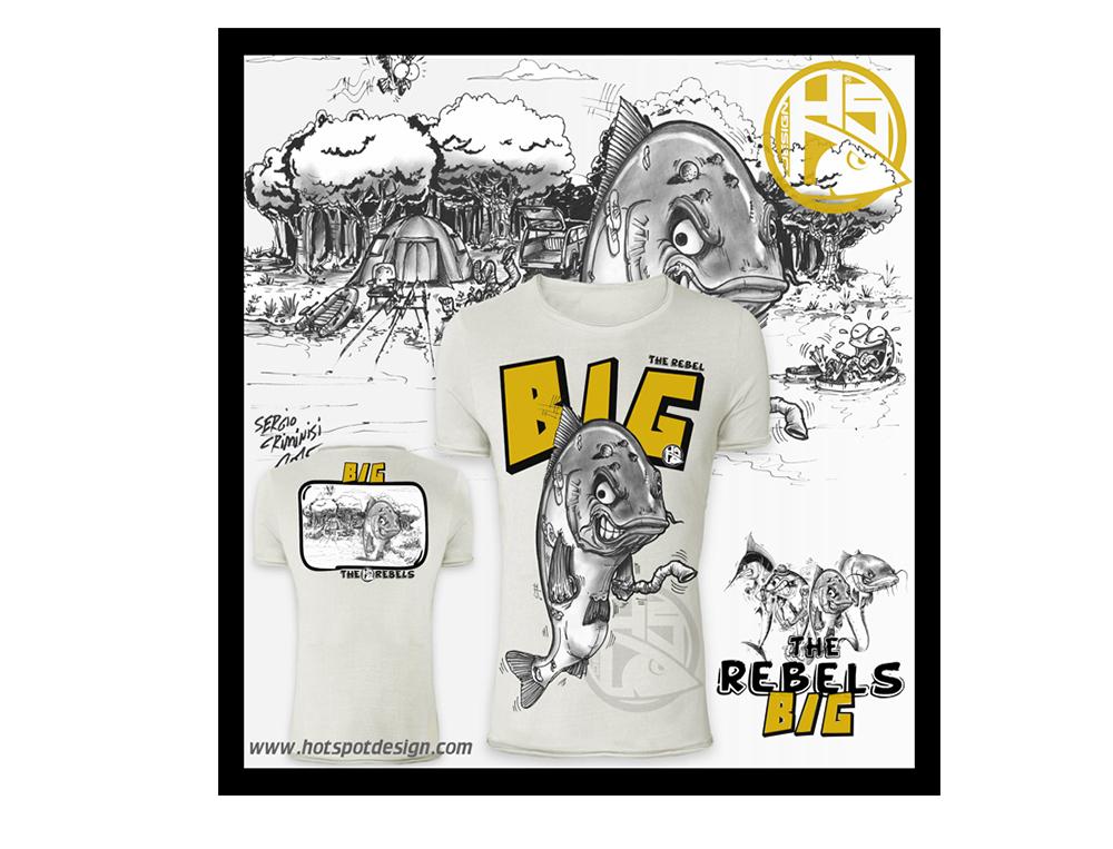 Hemden & T-Shirts Hotspot Design The Rebels Collection T-Shirt Big Bekleidung