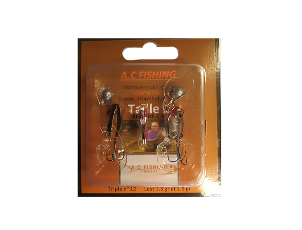 Monture taille 1 AC Fishing multi-leurre Clip\'n Fish
