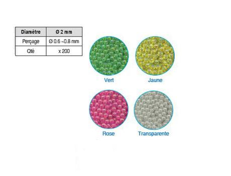 Micro-Perles Flashmer en verre 2mm
